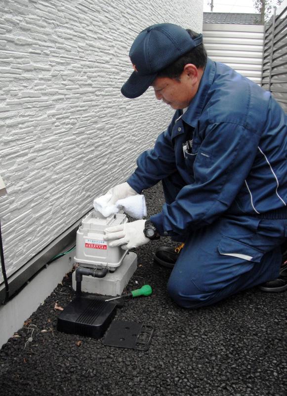 浄化槽保守点検作業3