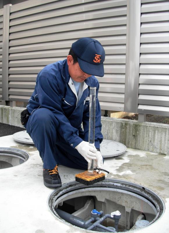 浄化槽保守点検作業2