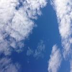 きれいな空の日には